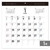 2017年カレンダー壁掛け30.5cm角 シンプルスタイル(1冊)