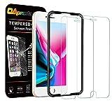 「OAproda iPhone8 / 7 / 6 / 6s 用 ガラスフィルム 液晶保護強化ガラス【2枚セット/ ガイド枠付き】4.7inch」のサムネイル画像
