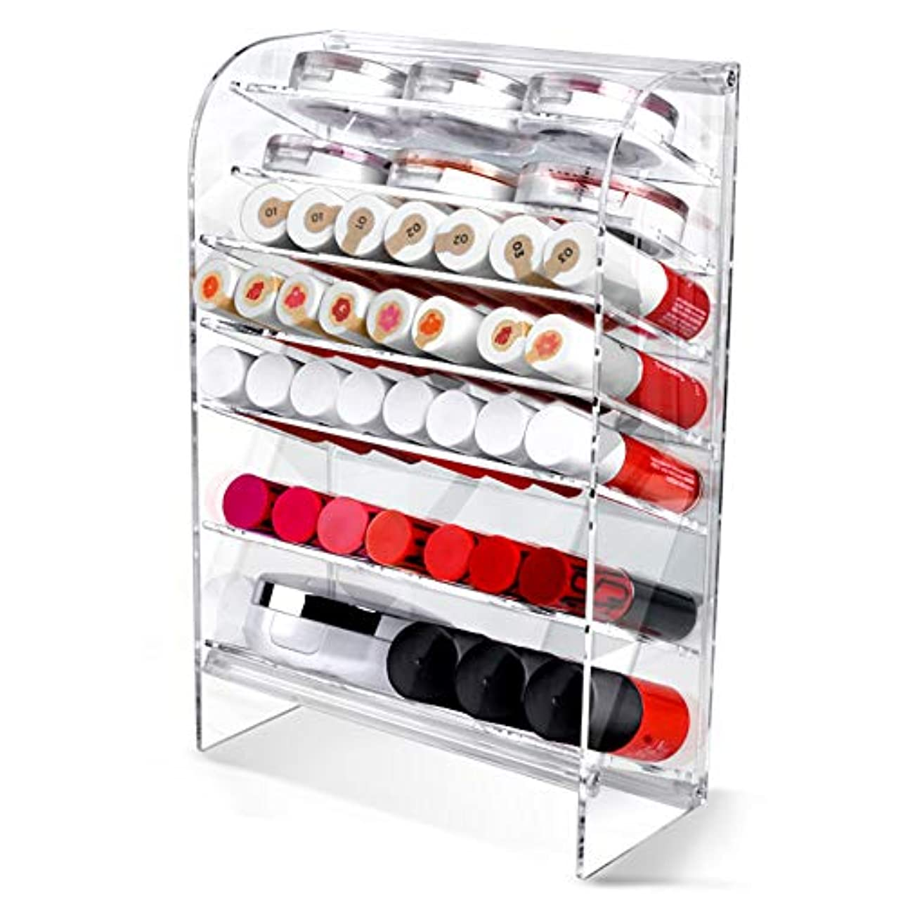 独創的精通したゲストAcrylic アクリル DIY Cosmetic 透明 コスメケース メイクケース メイクボックス 化粧品 入れ コスメ リップスティック 収納 スタンド/Organizer storage For lipstick...
