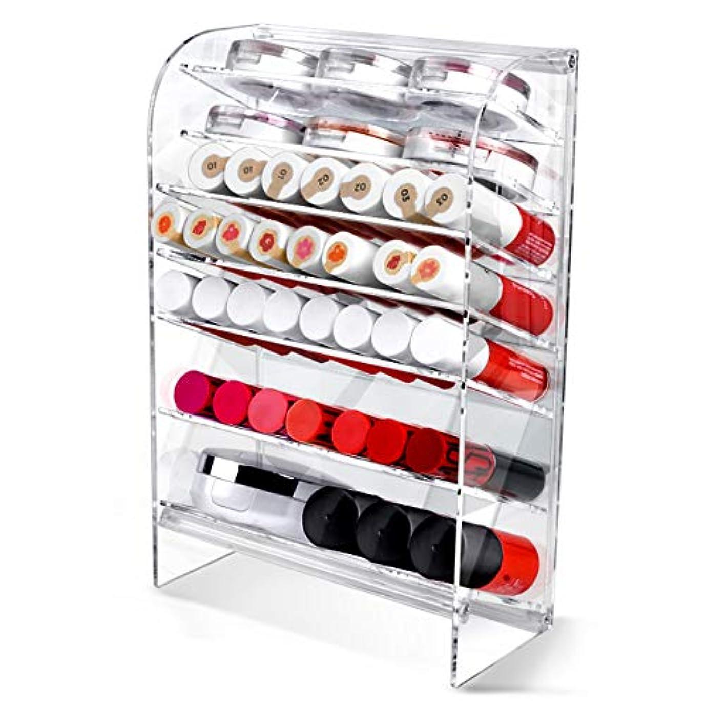 巻き戻す非アクティブ地下Acrylic アクリル DIY Cosmetic 透明 コスメケース メイクケース メイクボックス 化粧品 入れ コスメ リップスティック 収納 スタンド/Organizer storage For lipstick...
