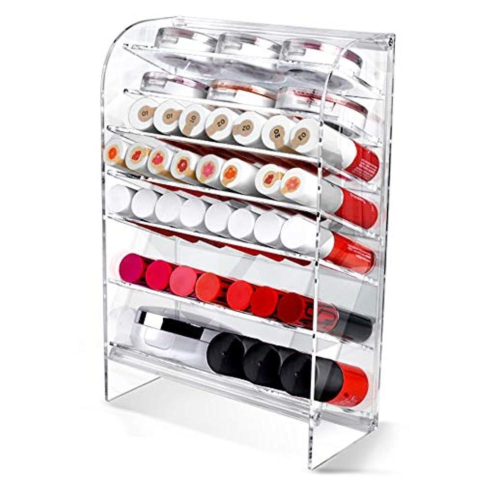 ハッチ階かわすAcrylic アクリル DIY Cosmetic 透明 コスメケース メイクケース メイクボックス 化粧品 入れ コスメ リップスティック 収納 スタンド/Organizer storage For lipstick make-up [並行輸入品] (TOWER L)