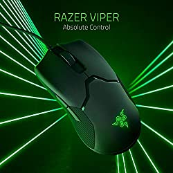 Razer Viper ゲーミングマウス 軽量 69g 16000DPI 8ボタン 光学スイッチ 柔らかい布巻ケーブル Chroma対応 【日本正規代理店保証品】 RZ01-02550100-R3M1