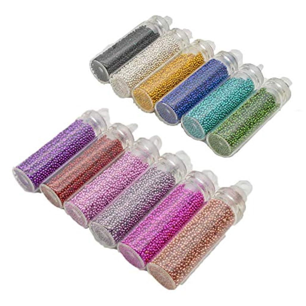 オーガニック呼ぶプールNina ブリオン レジンパーツ 【 12色セット 大ボトル入り 1mm以下 】カラフルデコレーション ネイルのアクセントにも