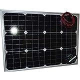 ZERO com●50Wセット防水 コード付き ソーラーパネル(12V)+10Aチャージコントローラー(12V/24V兼用)バッテリー充電 太陽光発電 船・車