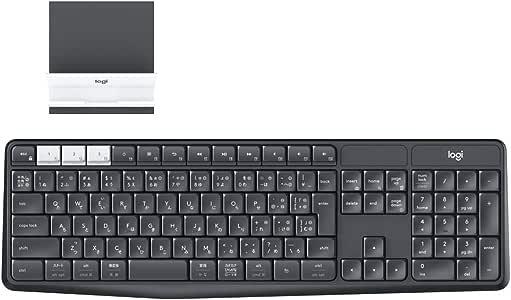 ロジクール ワイヤレスキーボード 無線 K370s Windows Mac Chrome Android iOS 対応 Bluetooth Unifying ワイヤレス キーボード 耐水 スタンド付 国内正規品 2年間無償保証
