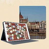 IPad mini1 mini2 mini3 ケース 手帳型 兼用型 IPad mini 1 / 2 / 3 カバー オートスリープ スタンド2段式の溝で自由に角度調節水面図で国会議事堂ブダペストハンガリー風光明媚なスカイライン反射