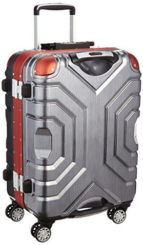 [シフレ] siffler スーツケース グリップマスター エスケープ 54cm 48L 4.7kg  小型サイズ TSAロック B5225T-54 ヘアラインブラック/レッド (ヘアラインブラック/レッド)