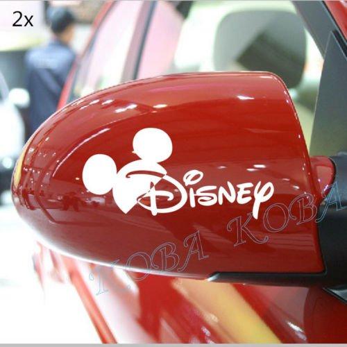 ディズニー ドアミラー その2 シルバー (ドア ミラー 2pc ドア取っ手 4pc) ビニール デカール カー ステッカー (並行輸入品)