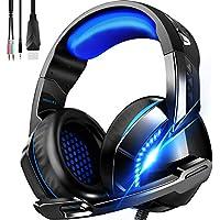 ゲーミングヘッドセット 高音質 ヘッドホン 軽量 ヘッドセット マイク付き ゲーム用 ヘッドフォン …
