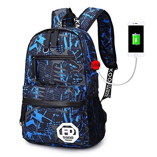 (よキーよ)Yokeeyoリュック デイパック 中学生 高校生 usb充電ポート 大容量 多機能 通...