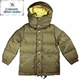 【CRESCENT DOWN WORKS】Kids Down Jacket -60/40 Cloth- 【クレセント・ダウン・ワークス】キッズ ダウン ジャケット -60/40クロス- ★BROWN 4(100)