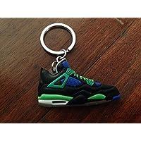 AIR Jordan IV 4 AJ4 Sneaker Shoe Keyring Keychain Black Blue Green Doernbecher