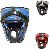 TurnerMAX取り外し可能なヘッドガードボクシングキック格闘技面ガード、ブルー