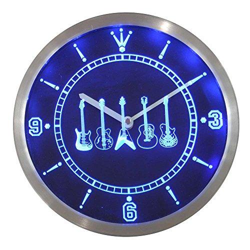 LEDネオンクロック 壁掛け時計 nc0150-b Guit...