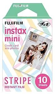 FUJIFILM インスタントカメラ チェキ用フィルム 10枚入 絵柄 (ストライプ) INSTAX MINI STRIPE 1