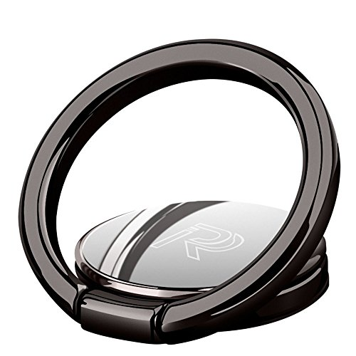 S.C.I スマホリング 薄型 ハンドスピナー 指スピナースマホ/携帯 ホルダー リング型 ストレス解消 落下防止 360回転 車載ホルダー対応 iPhone/Android各種他対応 (グレー)