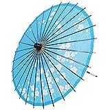 3Cデザイン 和傘 踊り傘 舞踏傘 和紙傘 長傘 和風 和紙 直径84cm 長さ80cm 28本骨 梅の花 藍 青 番傘 舞傘 防水 和コスプレ コスプレ 小物 和装 和服