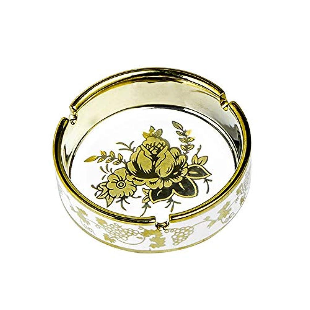 アトミック再生可能監督するタバコ、ギフトおよび総本店の装飾のための円形の光沢のあるセラミック灰皿