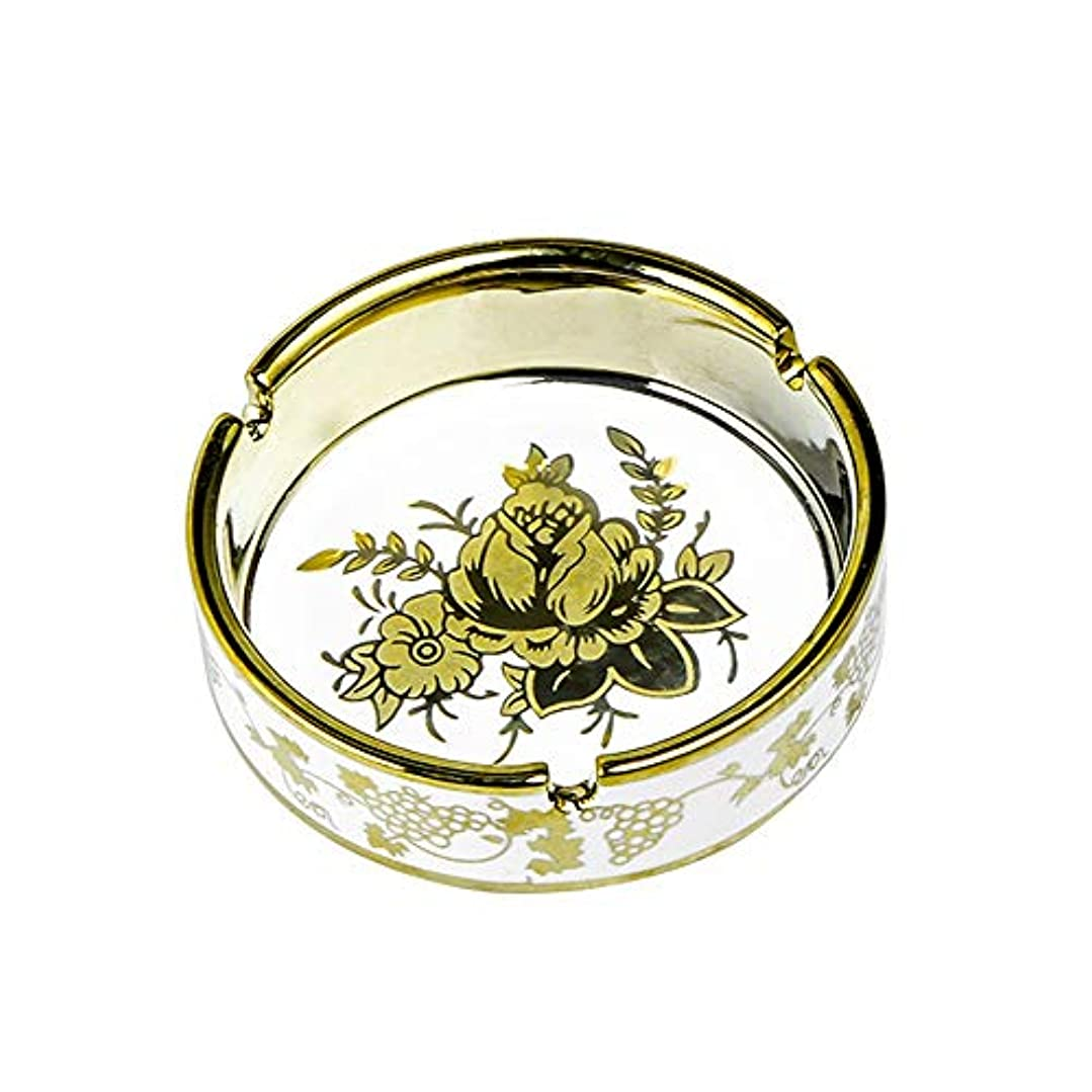 予言する旅行者甘味タバコ、ギフトおよび総本店の装飾のための円形の光沢のあるセラミック灰皿