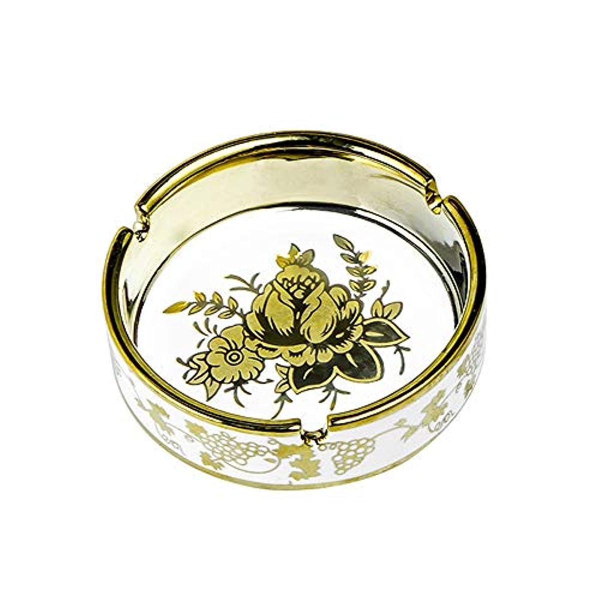 非効率的な社員ごちそうタバコ、ギフトおよび総本店の装飾のための円形の光沢のあるセラミック灰皿
