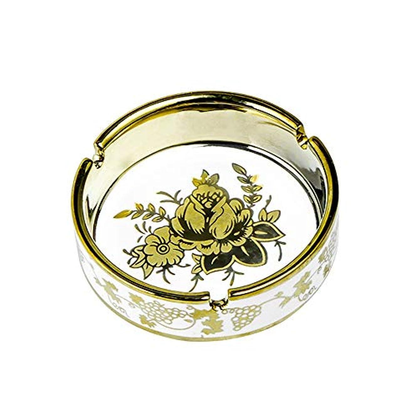 次へプレフィックスリムタバコ、ギフトおよび総本店の装飾のための円形の光沢のあるセラミック灰皿
