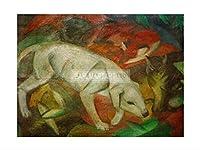 フランツ・マルク Dog Cat Fox サイズ各種 ジクレープリント輸入イギリス