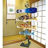 こいのぼり 徳永 鯉 鯉のぼり 室内用 室内飾り 京錦 ポリエステル 家紋 名前入れ 可能 123-450