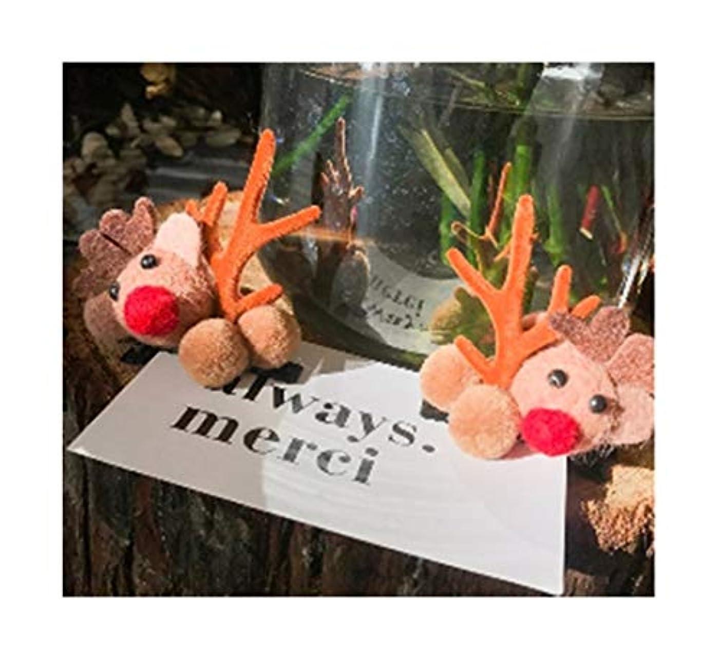 不当祈りから聞くクリスマスはヘアピン小さな枝角ヘアピン女性のクリップの装飾的な飾り大人のヘアアクセサリークリスマスジュエリーかわいいムース (スタイル : A)