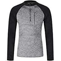 Gym Shirts Men Quick Dry Athletic Compression Long Sleeve Baselayer Workout T-Shirts for Men