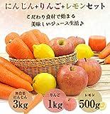 無農薬にんじん野菜セット(無農薬にんじん3kg+りんご1kg+レモン500g) 画像
