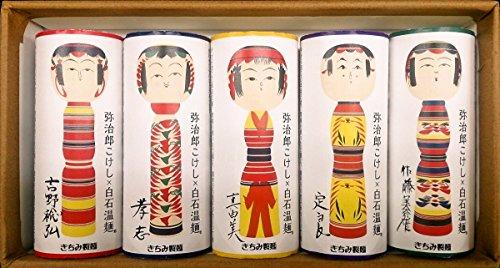 弥治郎こけし×白石温麺 (白帯紙)