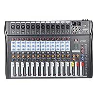 ammoon ミキサー 12チャンネル ミキシング コンソール マイク・オーディオ 3バンドEQ USB XLR入力 レコーディング DJステージ カラオケなど用120S-USB