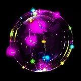 [ym] 大量注文可 MRG 光る風船 NEON TAIL ネオンテール LED ライト イルミネーション バルーン パーティーバルーン (レインボー, 5個セット)