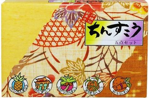 名嘉真製菓本舗 ちんすこう 5点詰合せ (プレーン・パイン・ココナッツ・黒糖・紅芋) 28個入り×1箱 沖縄の特産品を使用した伝統的なお菓子老舗ちんすこう専門店の味 琉球銘菓 ばらまき土産にも
