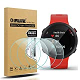 Suoman 4-Pack for Garmin Forerunner 45 / 45S Screen Protector Tempered Glass for Garmin Forerunner 45S / 45 [2.5D 9H Hardness] [Anti-Scratch] [Bubble-Free]