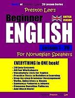 Preston Lee's Beginner English Lesson 1 - 20 For Norwegian Speakers (British)
