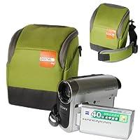 first2savvv高品質耐衝撃グリーンナイロンビデオカメラケースバッグfor Sony dcr-sr100e