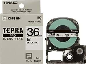 キングジム テープカートリッジ テプラPRO 36mm SS36K 白