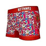 BETONES(ビトーンズ)「BETONES×STREET FIGHTER2」コラボ アンダーウェア ボクサーパンツ ショート ユニセックス プレゼント STREET FIGHTER2-STF003 (4 RED)