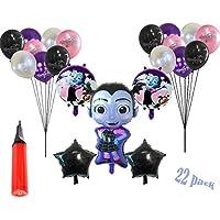Fullyy Vampirina バルーン 誕生日パーティー ハロウィン パーティー デコレーション 22個セット 手持ちバルーンインフレーター