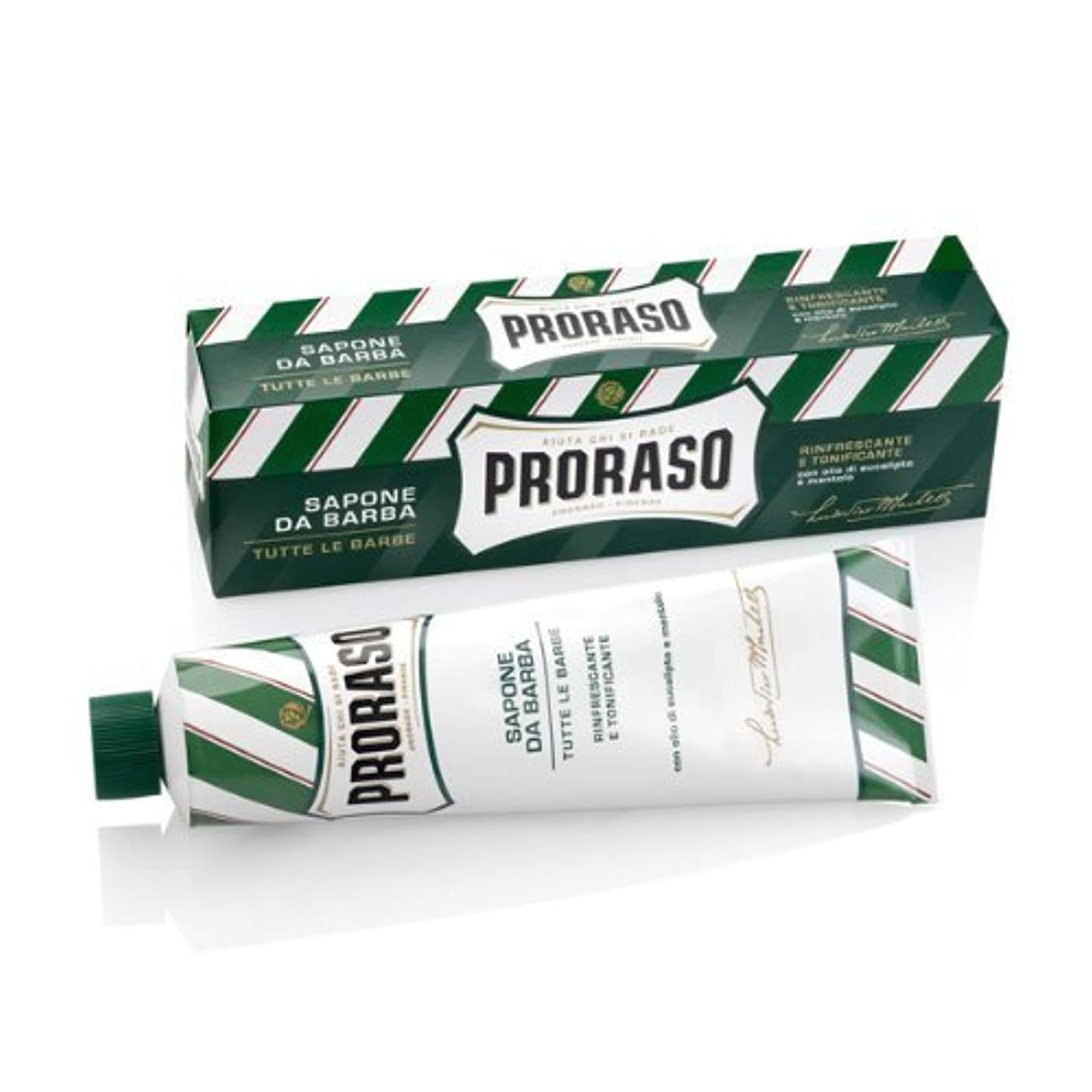 動作序文満州Proraso Eucalyptus & Menthol Shaving Cream - 150 ml. by Proraso [並行輸入品]