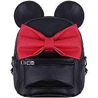 (フィーショー) FEESHOW 大人 子供 ガールズ PUレザー ミッキーマウス バックパック ミニーマウス 小型リュックサック ディズニー ハロウィン クリスマス プレゼント