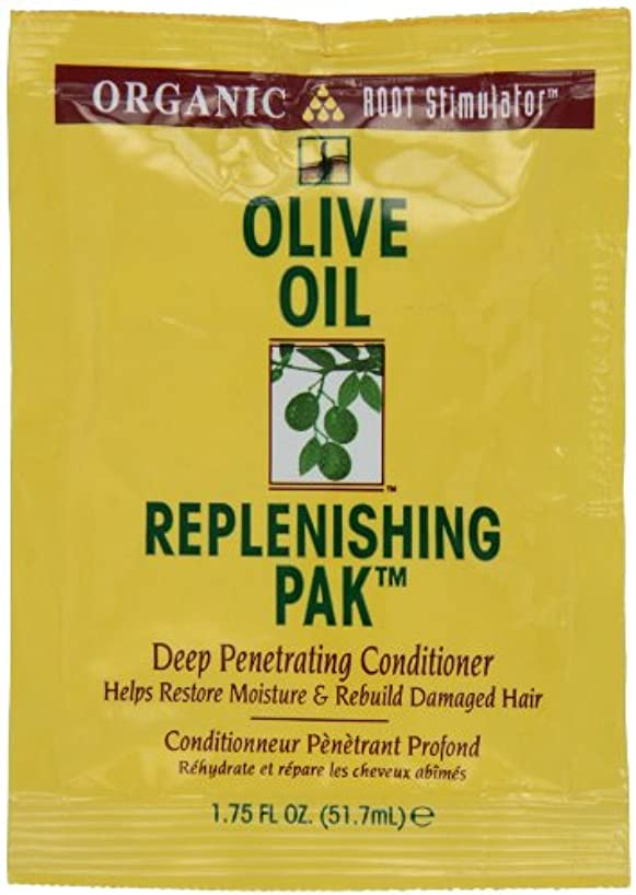 動く属性感謝しているオリーブオイル髪いたわりコンディショナーパック (12個) (並行輸入品)