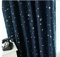 elegantstunning高品質断熱サンブロックカーテン フック式カーテン 織物製品 130 * 151 cm ダークブルー