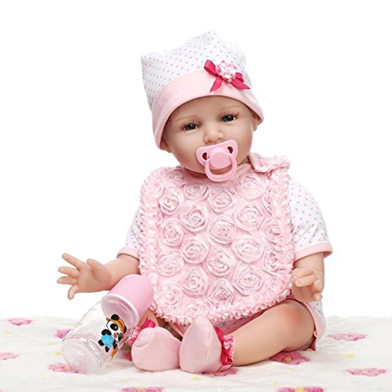NPK 55 cm 22インチRealistic Rebornベビー人形ソフトSiliconeビニールLifelike新生児赤ちゃんLovely Girl Toys