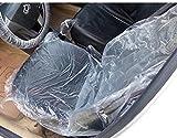 車 使い捨て ビニール シート カバー フロント 座席 ハンドル ステアリング カバー フロアー足マット 養生 各 50 枚