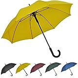SoulRain 超強風抵抗 130 cm長傘Jハンドルクラシック紳士傘大きいステッキ傘 自動開特大ゴルフ傘 丈夫強風豪雨対策ステッキ傘男性と女性用晴雨兼用傘