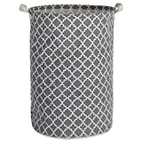 DII Heavy Duty Cotton/Polyester Cube Laundry Basket or Bin, Perfect In Your Bedroom, Nursey, Dorm, Closet, Laundry Room, For Clean and Drity Clothes and Home Organization, Grey Lattice, Laundry Hamper