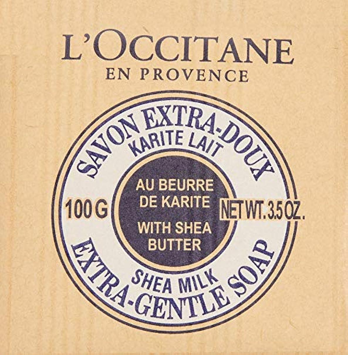 変化飛ぶゴールデンロクシタン(L'OCCITANE) シアソープ ミルク やさしいミルクの香り 単品 100g