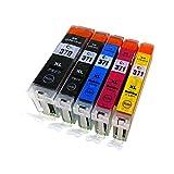 キャノン(Canon) BCI371XL(BK/C/M/Y)+BCI370XLBK 【5本マルチパック/大容量】【morishop製】最高級互換インクカートリッジ (ICチップ、残量表示機能付き/商品1年保証) BCI371XL+370XL/5MP